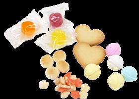 中身の種類も多数。色んな組み合わせが楽しめるお菓子